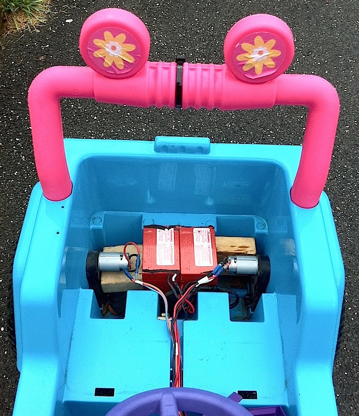 Modified Power Wheels Race Cars with Variable Speed Pedal
