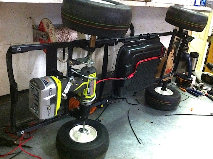 modified power wheels race cars with variable speed pedal and rubber tires salty dog cafe